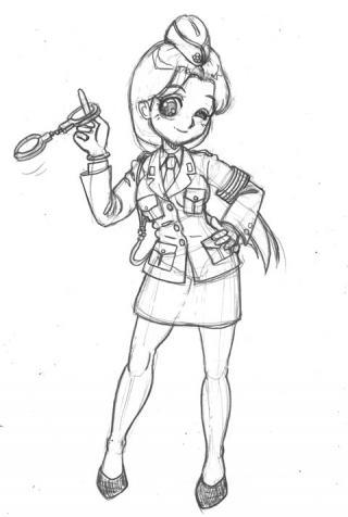 昔の婦警の制服が好き!