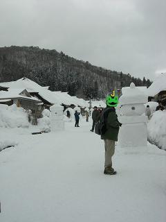 雪の宿場町