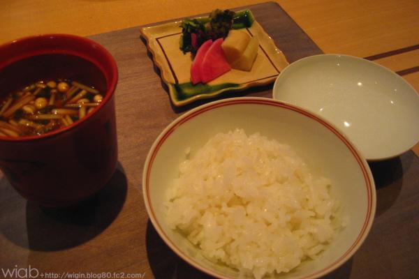 〆は白いご飯!!