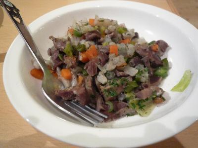 3.砂肝と野菜