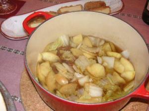 白菜とりんご