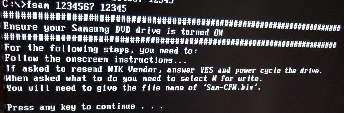 iPrep DOS 書き込み準備