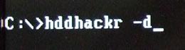 hddhackr -dの実行