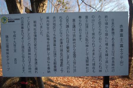 山名由来の説明板