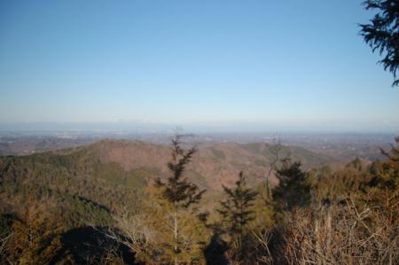 鶏足山北峰からの展望