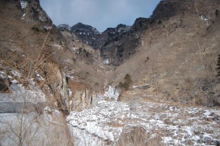 11雲竜渓谷入口からの展望