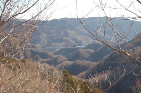 17無名峰からの大吊橋