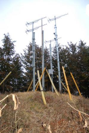 アンテナが建つピーク