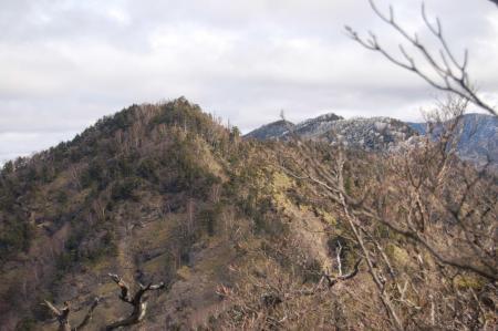 山頂から袈裟丸連山