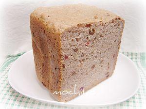20100423ライ麦とレーズンとクルミのご飯パン 早焼き