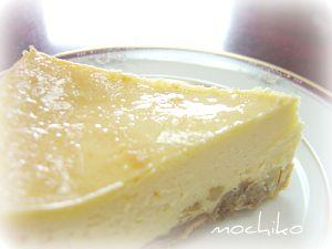 20100627レモンピール入りベイクドチーズケーキ