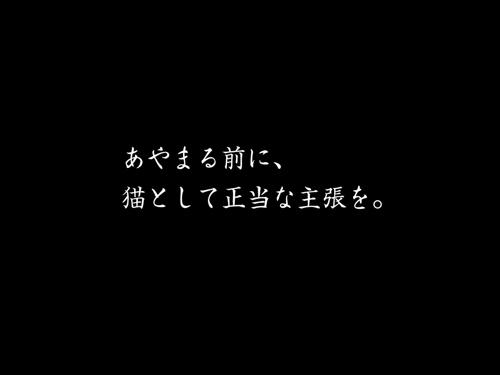 再春館猫苦情篇CM6