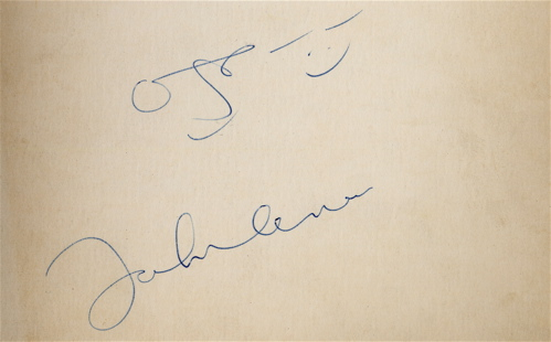 ジョンのサイン