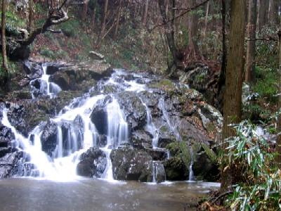 上君田の滝上滝