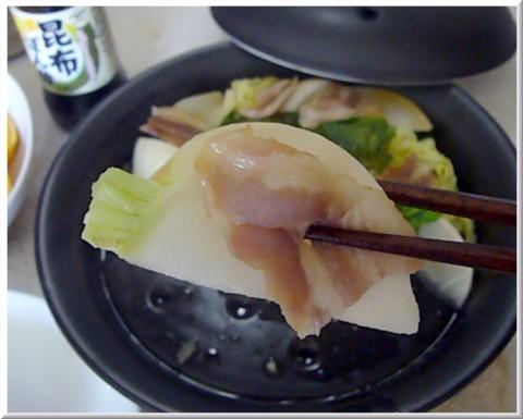 カブとベーコンの蒸し料理2