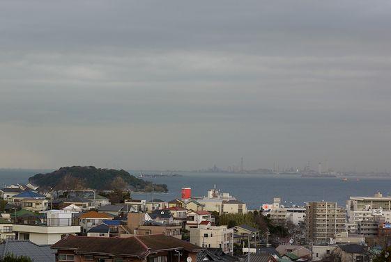 裏山から見た東京湾