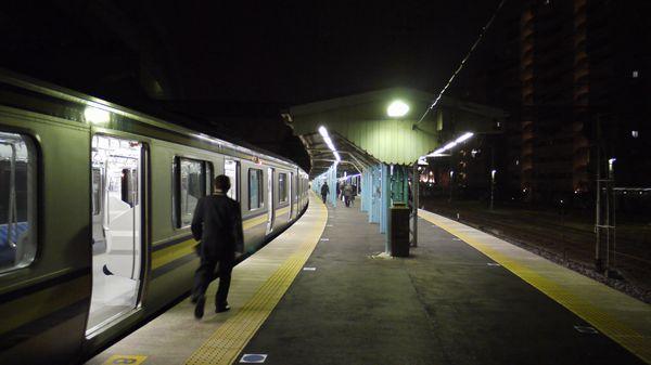 夜の横須賀駅