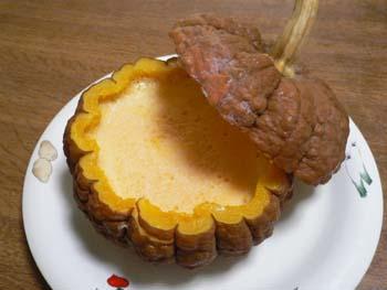 丸ごとかぼちゃプリン1
