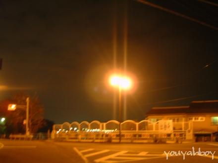 ある交差点の夜景