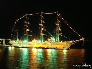 海王丸の夜景 2006.11.25 18:27撮影