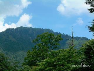 「石鎚スカイラインの終点・山小屋からの景色」クリックすると巨大化します!