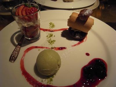 三種類のデザート