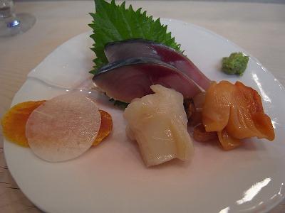 おおのカラスミ、赤貝、ミル貝、サバ