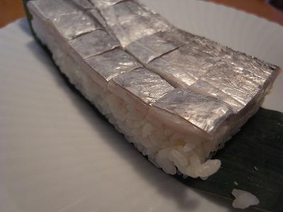 太刀魚の押し鮨