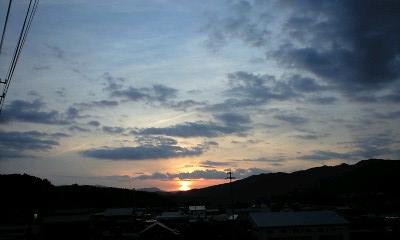 夕景 飛騨 高山 日之本元極