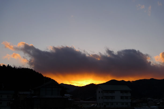lx3 飛騨 高山 夕景 夕陽