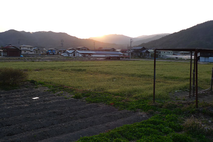 春 夕陽 飛騨 高山 気功教室 日之本元極