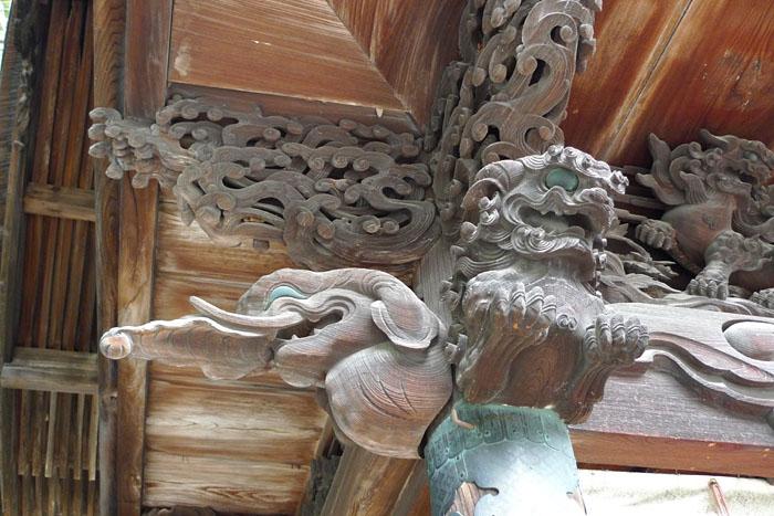 諏訪神社 秋宮 彫刻 日之本元極