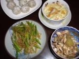 野菜たっぷり夕飯