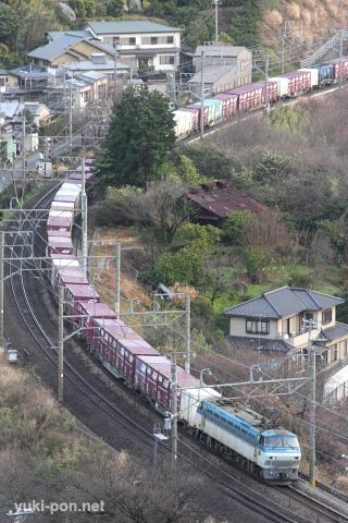 EF66+コキ@早川~根府川