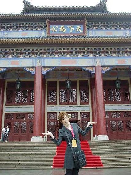 中国公演 中山記念堂前でゆうま