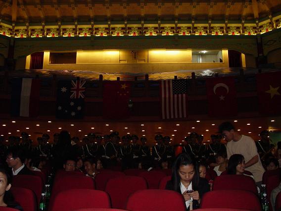 中国公演中山記念堂客席