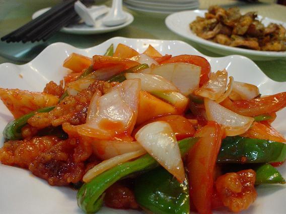 中国公演 昼食 酢豚