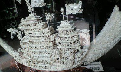 中国 象牙細工