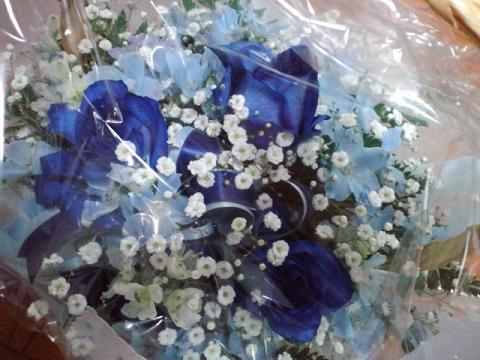 モノリス お花 青いバラ