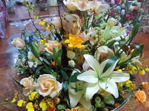 モノリス お花 オレンジバラ