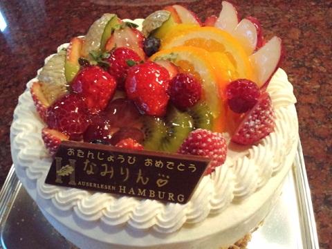 鳥羽_なみりん誕生日ケーキ