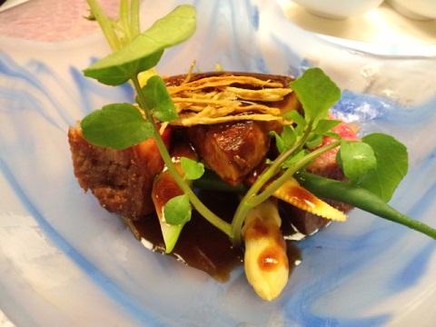 ディナー お肉とフォアグラ
