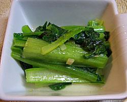 青菜のしょうが炒め