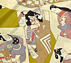 歌舞伎の羽裏