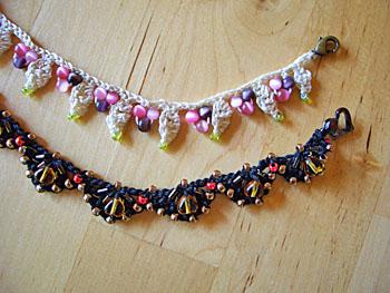 ビーズ編みの羽織紐