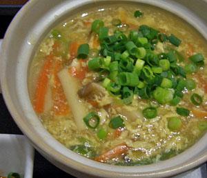 手作り豆腐の野菜あんかけ
