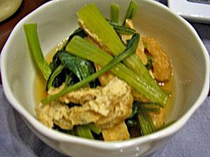 小松菜の含め煮