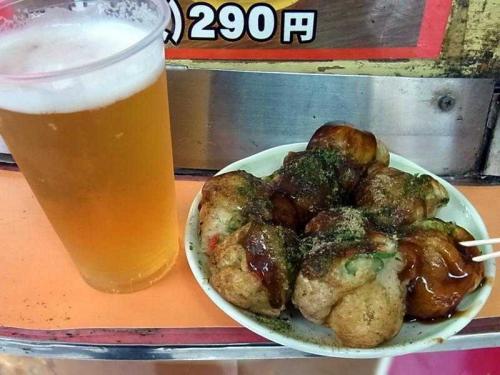 たこ焼&ビール