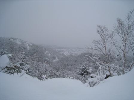 雪景色が一望