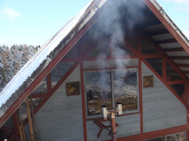 仕事場の煙突